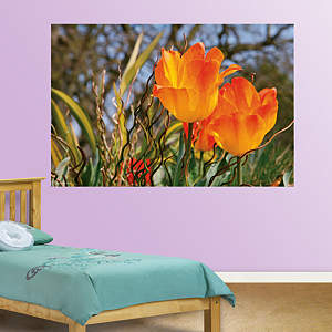 Golden Tulips Closeup Mural Fathead Wall Decal